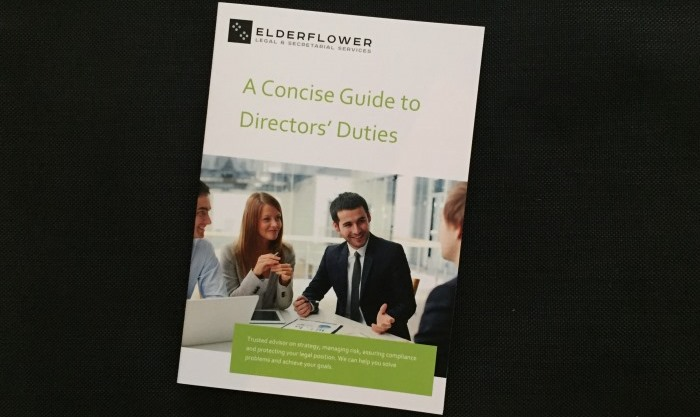 Concise Guide to Directors' Duties by Elderflower Legal